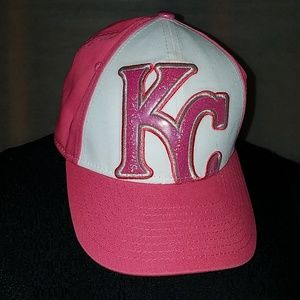 New Era 9 forty KC hat youth pink white